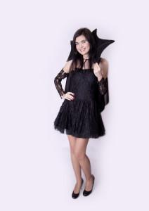 Halloween sukňa, šaty, plášť
