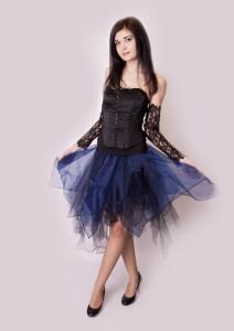 Halloweenska sukňa s korzetom
