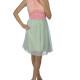 Letné šaty v pastelových farbách